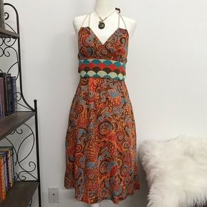 Anthropologie  Moullinete Souers Halter Dress